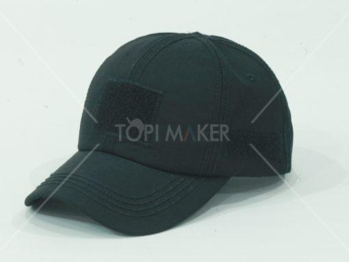 Topi Velcro hitam